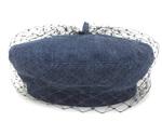 クリスチャンディオール/チュールデニムベレー帽