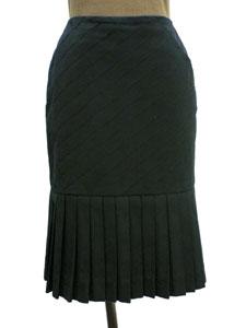 裾プリーツコットンスカート