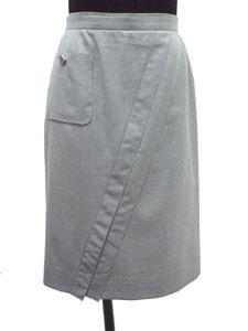 ポケット付ウールスカート