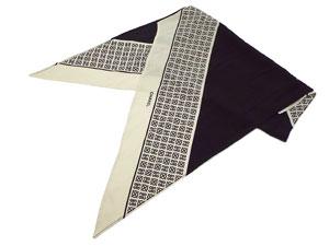 ロゴ柄シルクスカーフ