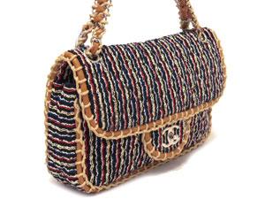 シャネル/シャネルのバッグ、シャネルの財布/シャネル/ツィード レザートリミング チェーンショルダー