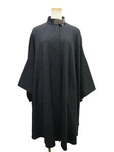 ポンチョ風ウールコート