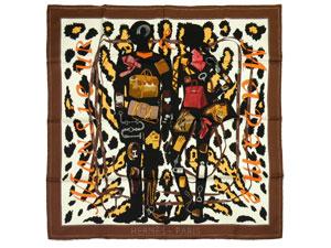 カレ90 スカーフ 【Monsieur et Madame II (ムッシュー&マダムII)】