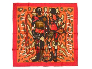 カレ90 スカーフ 【Monsieur et Madame II (ムッシュー&マダムII)】【値下げ】