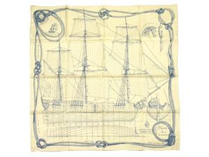 カレ90 スカーフ 【Cheval de Mer (海の馬)】