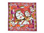 エルメス/スムーズカレ スカーフ 【Chevaux de Karnac (カルナック神殿の馬)】【値下げ】