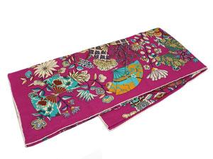 カレ140 カシミヤ&シルクショール 【Fleurs et Papillons de Tissus (花咲く織物)】