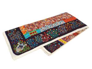 カレ140 カシミヤ&シルクショール 【Pique Fleuri de Provence(プロヴァンスの花刺繍)】