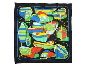 カレ90 スカーフ 【THALASSA (ボート柄)】