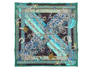 カレ90 スカーフ 【Brides et Gris-Gris (馬勒とチャーム)】