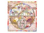 エルメス/カレ90 スカーフ 【EX-LIBRIS EN KIMONOS (キモノ・エクスリブリス)】 【SALE】