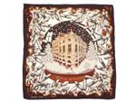 エルメス/カレ90 カシミヤ&シルク スカーフ 【Noel au 24 Faubourg (フォーブル24番地のクリスマス)】