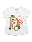クリスチャンディオール/キッズ フラワー刺繍Tシャツ