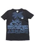 アルマーニ ジュニア/プリントTシャツ 【自転車&ロゴ】