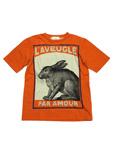 グッチ/キッズ ラビットプリントTシャツ