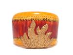 イヴサンローラン/メタル珊瑚 ウッド バングル