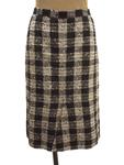 ソニアリキエル/スリット入り ツイードセミタイトスカート
