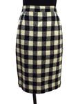ヴァレンティノ ガラバーニ/チェック柄 ウールタイトスカート