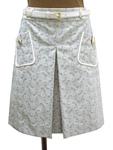 セリーヌ/マカダム柄 プリーツセミタイトスカート
