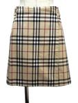 バーバリー ロンドン/チェック柄リバーシブルラップスカート